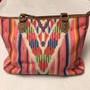 Serape Large Handbag Concealment Canvas Bag